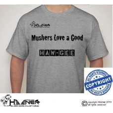 Hooner Mushing Humor T-shirt