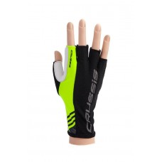 CRUSSIS Bike gloves black - neon yellow