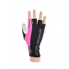 CRUSSIS Bike gloves black - neon pink