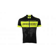 CRUSSIS Cycling Jersey Black Neon Yellow