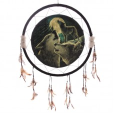 Decorative Fantasy Wolf Family  60cm Dreamcatcher