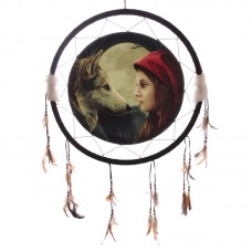 Decorative Fantasy Wolf and Women 60cm Dreamcatcher