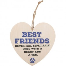 Best friends never fail - wooden heart plaque