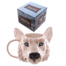 Novelty Wolf Head Shaped Ceramic Mug