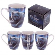 Bone China Mug - Fantasy Wolf Guardian