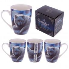 Bone China Mug - Fantasy Wolf Guardian