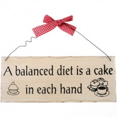 A balanced diet wall plaque