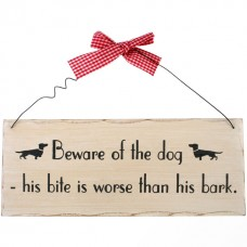 Beware of the dog wall plaque