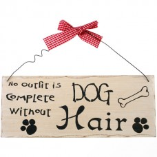 No outfit - dog hair wall plaque