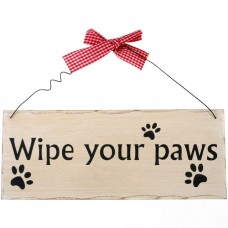 Wipe your paws wall plaque